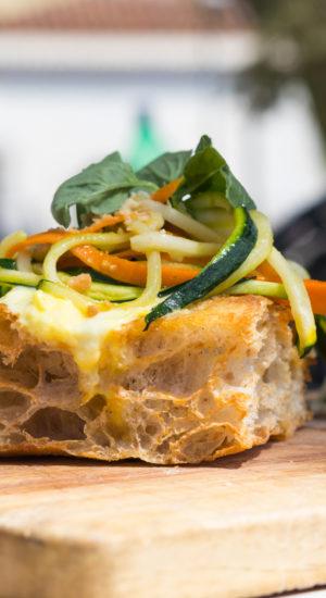 Crunch di spaghetti con verdure - Cutilisci: il gusto di un'isola sana